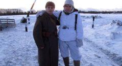 Luca assieme a Jacopo alla rievocazione storica organizzata a Dubosekovo - Russia