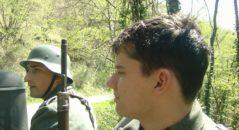Luca durante una delle sue prime rievocazioni - Imola 2005