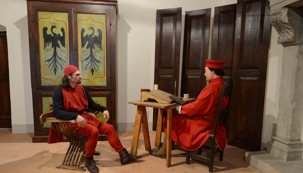 Pietro Barsotti dialoga con Federico da Montefeltro